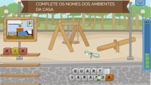 Print de jogo Escalada, do app Escribo Play.