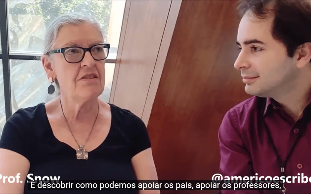 Americo Amorim e Catherine Snow conversam sobre como fazer valer saberes já conquistados na área de educação.